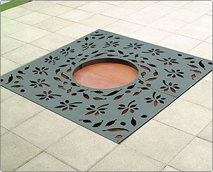 Square Foliage Grille - Tree Protection - Steel - Street Furniture